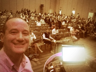 """SPelfie"" - speaker selfie about 10 minutes before I started."